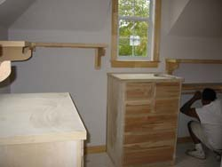 Custom carpentry, closet interior